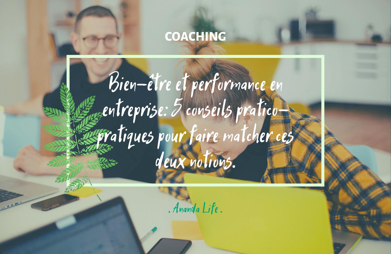 Bien-être et performance en entreprise