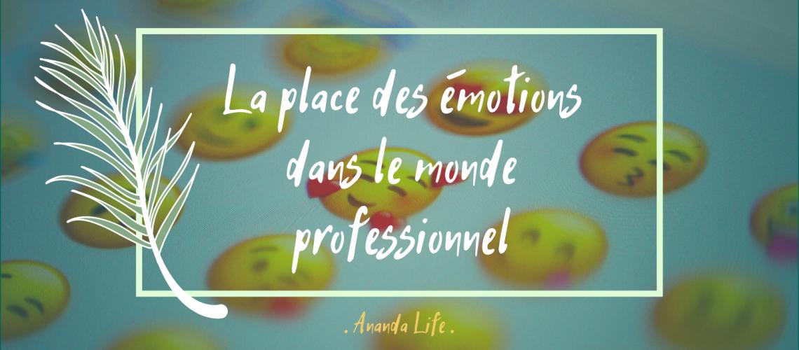 place des émotions dans le monde professionnel