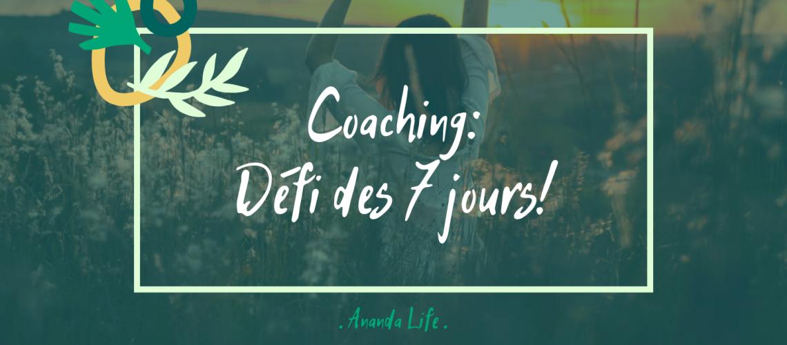 Coaching défi des 7 jours